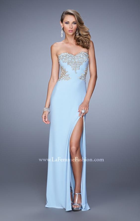 Picture of: Elegant Long Prom Dress with Cut Outs and Open Back, Style: 21073, Detail Picture 1