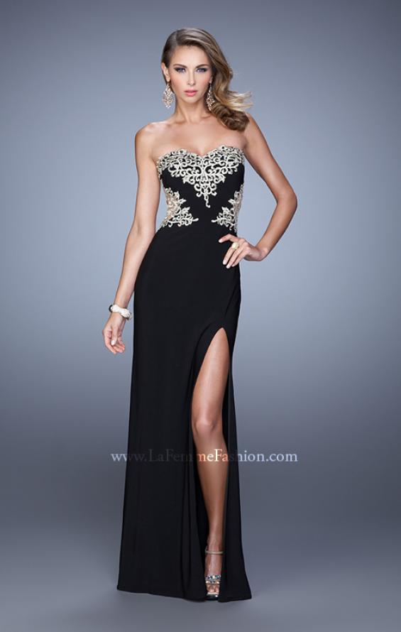 Picture of: Elegant Long Prom Dress with Cut Outs and Open Back, Style: 21073, Detail Picture 3