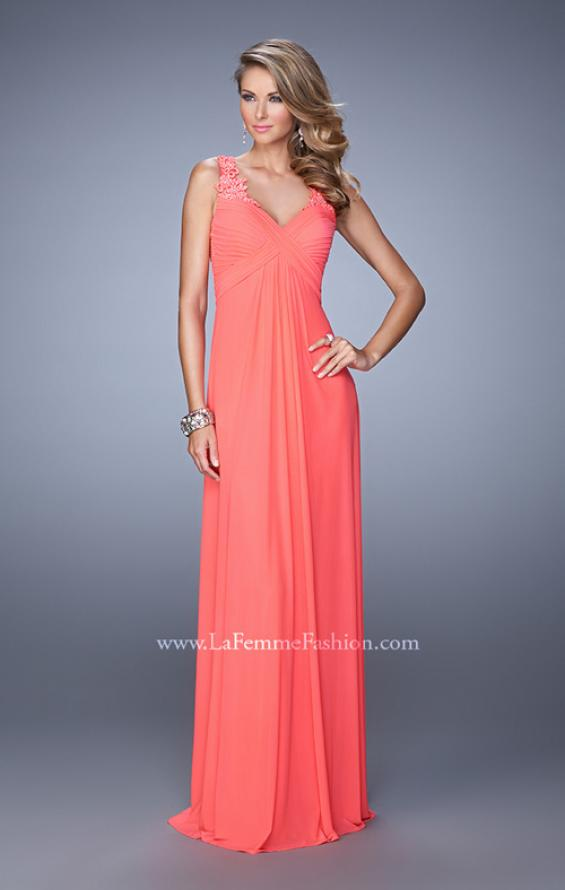 Picture of: Embellished Long Prom Gown with Ruched Bodice, Style: 21084, Detail Picture 2