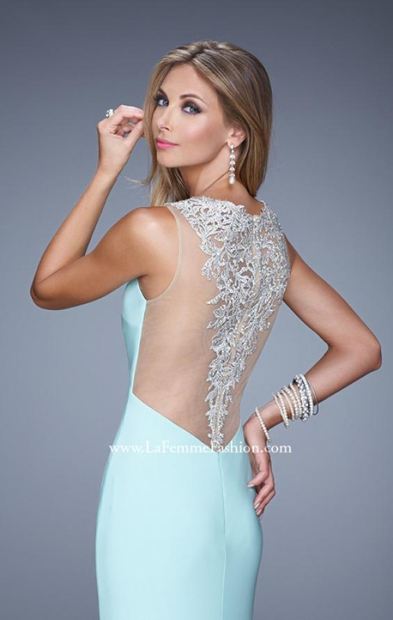 Picture of: Sultry Long Jersey Prom Dress with Beading and Slit, Style: 21111, Main Picture