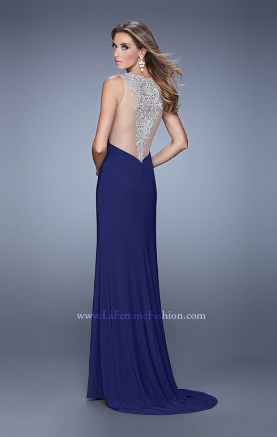 Picture of: Sultry Long Jersey Prom Dress with Beading and Slit, Style: 21111, Detail Picture 1