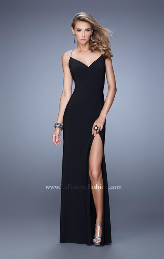 Picture of: Sultry Long Jersey Prom Dress with Beading and Slit, Style: 21111, Detail Picture 2