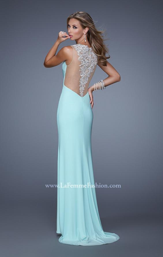Picture of: Sultry Long Jersey Prom Dress with Beading and Slit, Style: 21111, Detail Picture 3