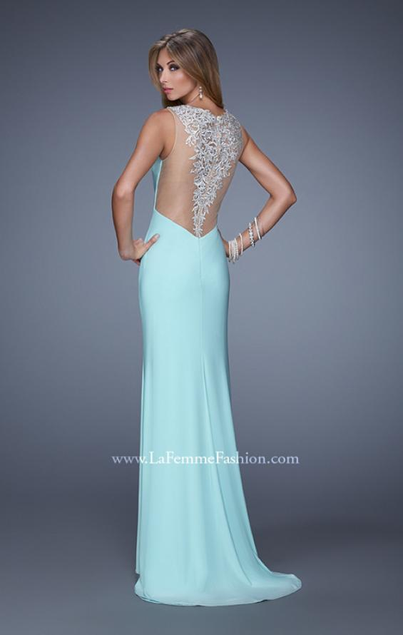 Picture of: Sultry Long Jersey Prom Dress with Beading and Slit, Style: 21111, Detail Picture 4