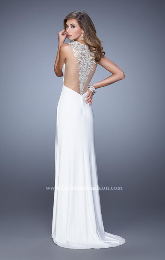 Picture of: Sultry Long Jersey Prom Dress with Beading and Slit, Style: 21111, Detail Picture 6