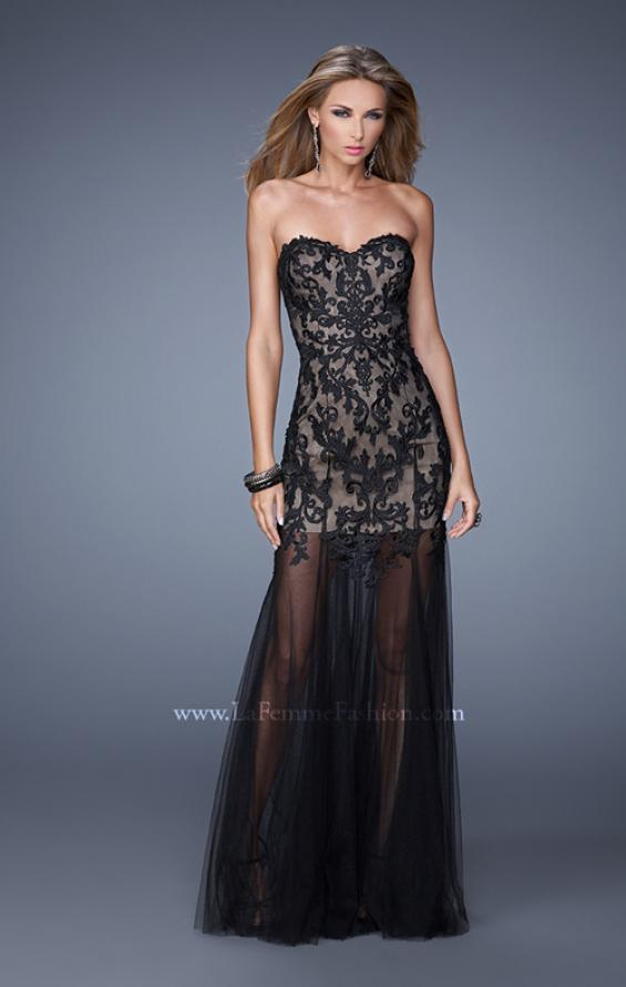 Picture of: Bold Tulle Dress with Sweetheart Neck and Sheer Skirt, Style: 21114, Main Picture