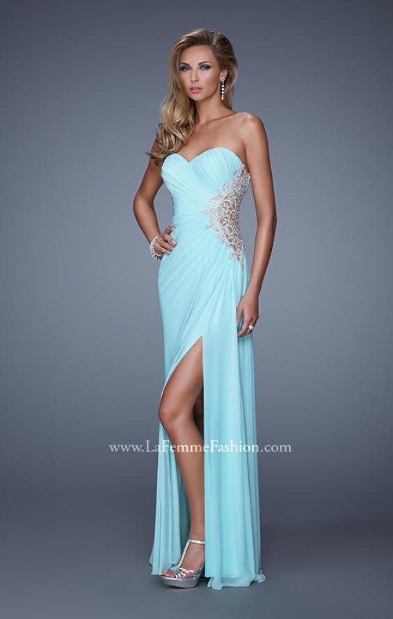 Picture of: Glam Prom Dress with Sheer Cut Outs and Embroidery, Style: 21115, Main Picture