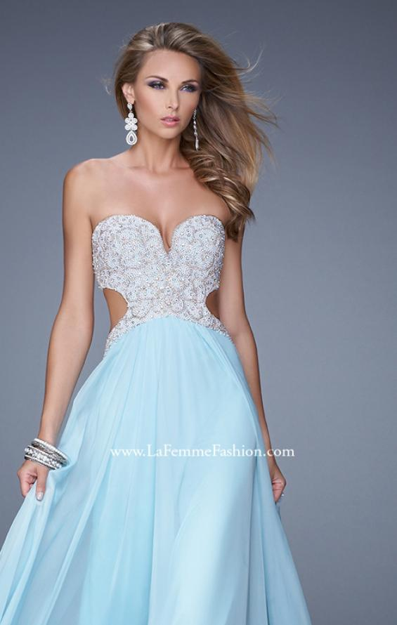 Picture of: Pretty Chiffon Prom Dress with Pearls and Rhinestones, Style: 21128, Main Picture