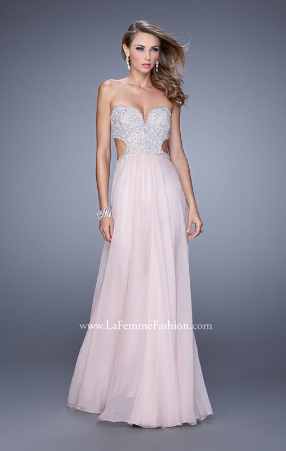 Picture of: Pretty Chiffon Prom Dress with Pearls and Rhinestones, Style: 21128, Detail Picture 2