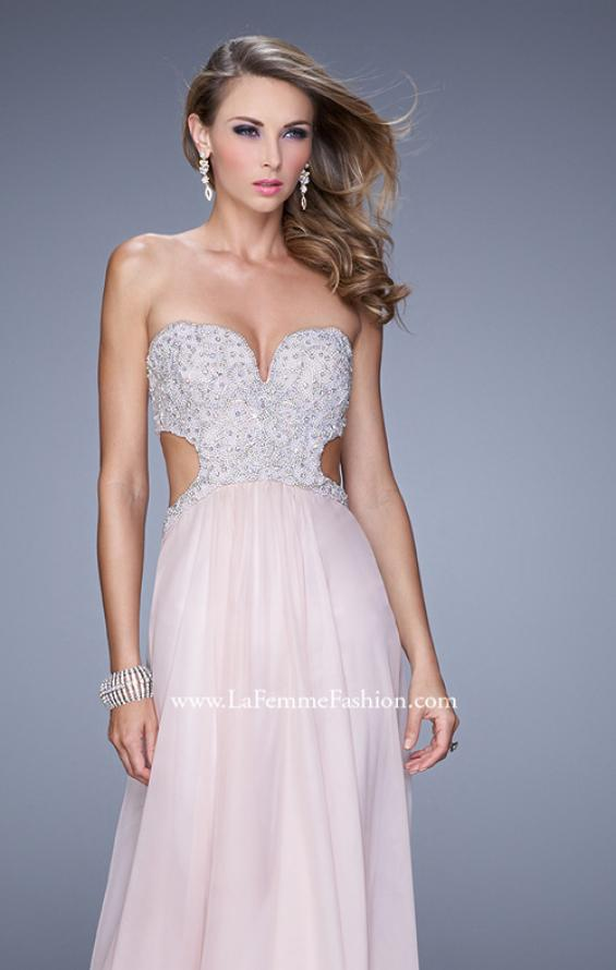 Picture of: Pretty Chiffon Prom Dress with Pearls and Rhinestones, Style: 21128, Detail Picture 3