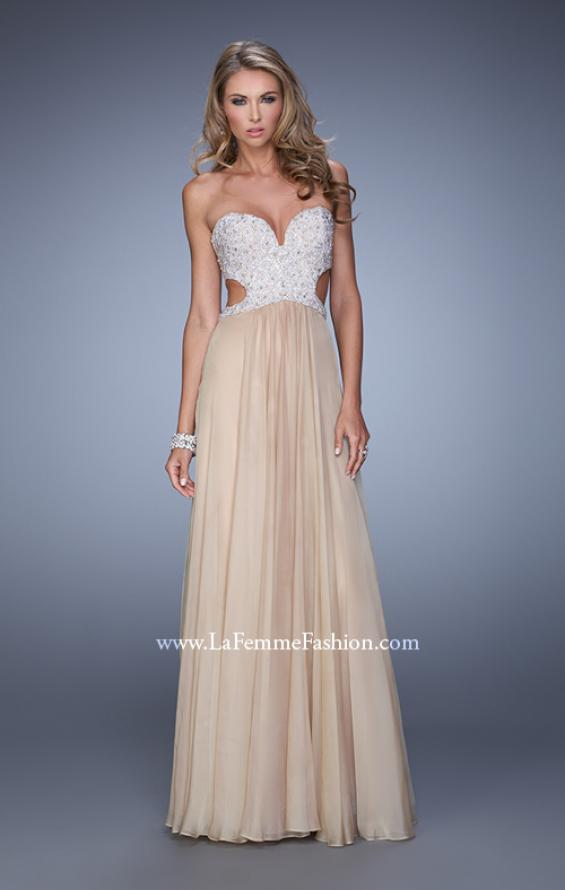 Picture of: Pretty Chiffon Prom Dress with Pearls and Rhinestones, Style: 21128, Detail Picture 4