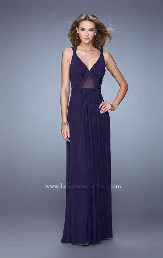 Picture of: Simple Long Jersey Prom Dress with Crisscross Straps, Style: 21143, Detail Picture 3