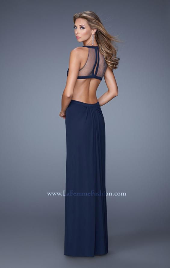 Picture of: Long Prom Gown with Ruched Bodice and Open Back, Style: 21144, Main Picture