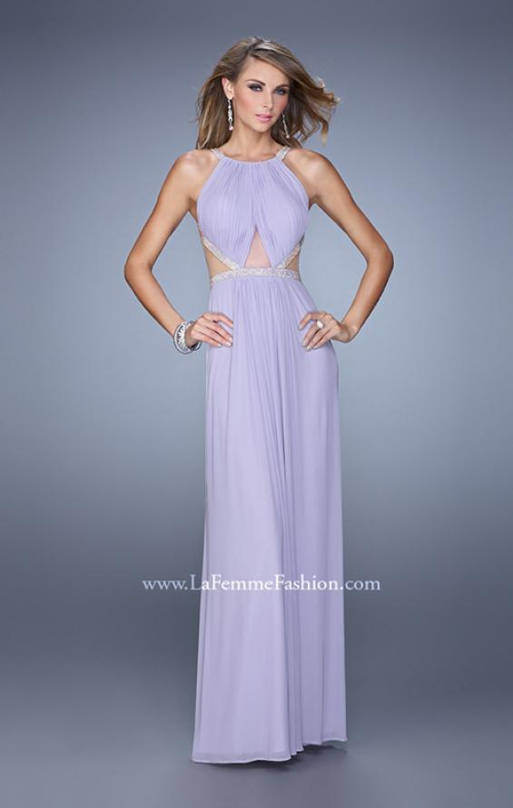 Picture of: Modern Jersey Prom Dress with High Neck and Gathering, Style: 21145, Main Picture