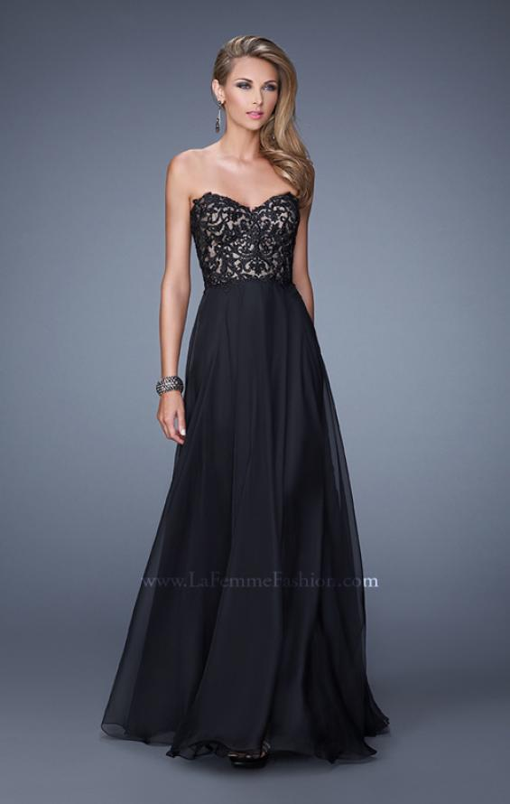 Picture of: Long Chiffon Prom Gown with Jeweled Embroidery, Style: 21153, Main Picture