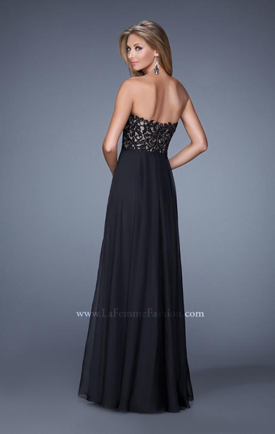Picture of: Long Chiffon Prom Gown with Jeweled Embroidery, Style: 21153, Back Picture