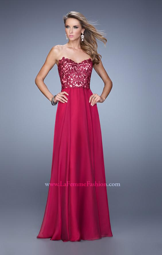 Picture of: Long Chiffon Prom Gown with Jeweled Embroidery, Style: 21153, Detail Picture 2