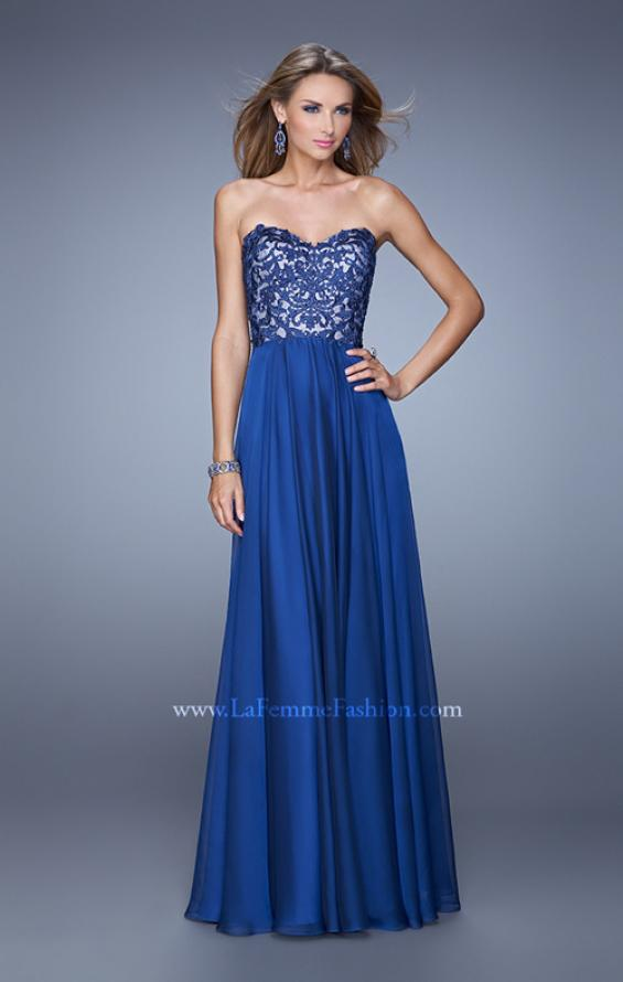 Picture of: Long Chiffon Prom Gown with Jeweled Embroidery, Style: 21153, Detail Picture 3