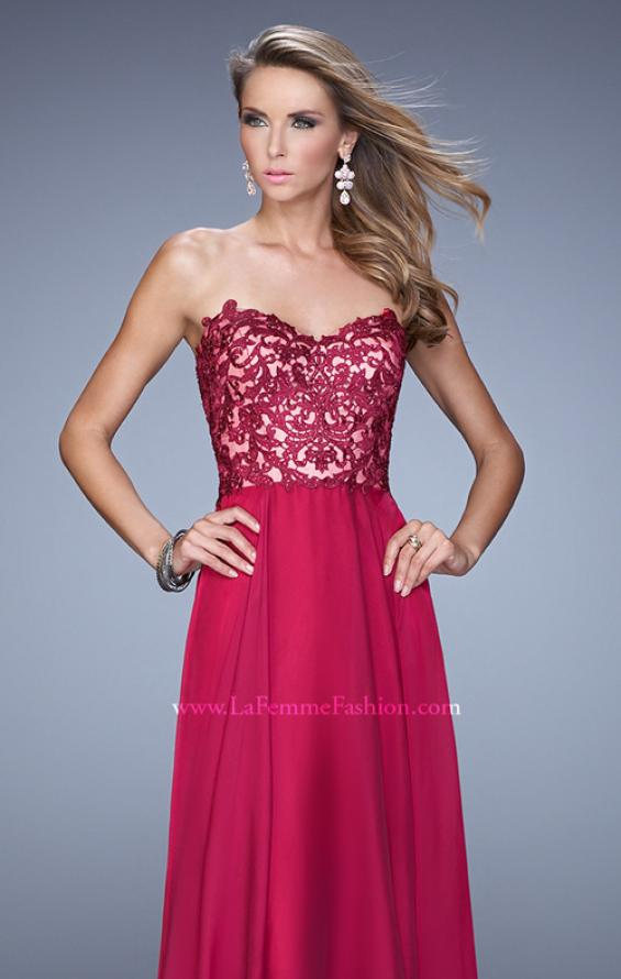Picture of: Long Chiffon Prom Gown with Jeweled Embroidery, Style: 21153, Detail Picture 4