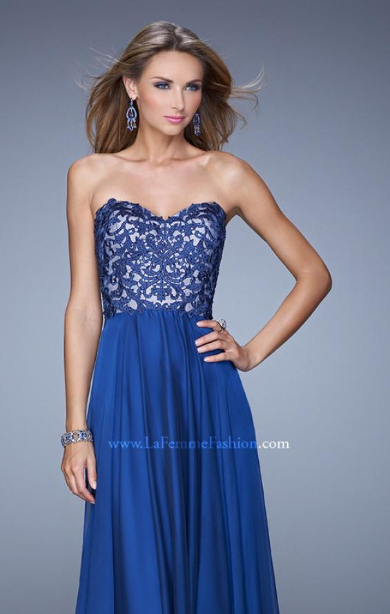 Picture of: Long Chiffon Prom Gown with Jeweled Embroidery, Style: 21153, Detail Picture 5