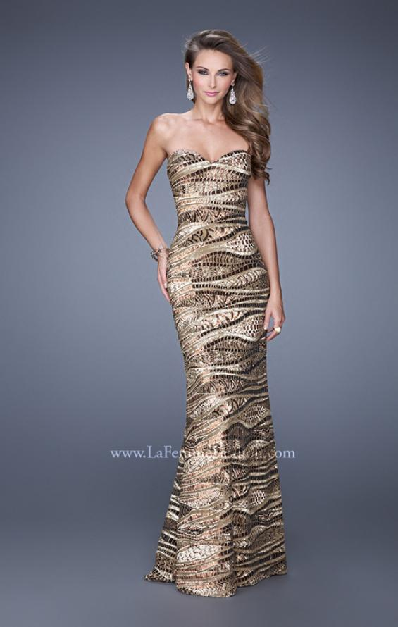 Picture of: Long Fitted Sequin Prom Gown with Back of Dress Slit, Style: 21155, Main Picture