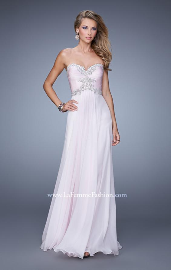 Picture of: Ruched Bodice Prom Dress with Sweetheart Neckline in Pink, Style: 21173, Main Picture