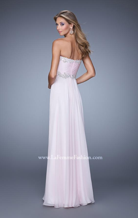 Picture of: Ruched Bodice Prom Dress with Sweetheart Neckline, Style: 21173, Back Picture