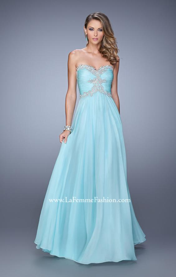 Picture of: Ruched Bodice Prom Dress with Sweetheart Neckline, Style: 21173, Detail Picture 3