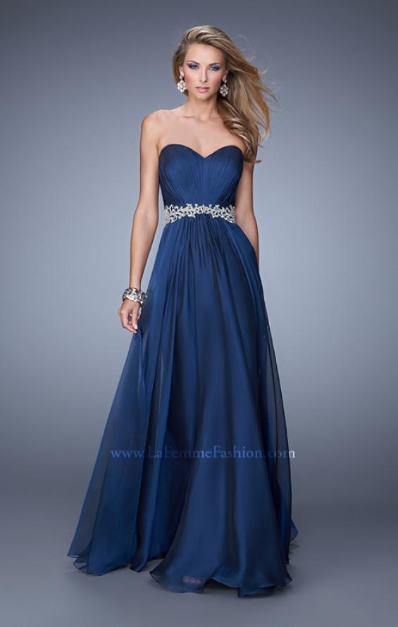Picture of: Elegant Long Prom Dress with Beaded Embroidery, Style: 21177, Main Picture