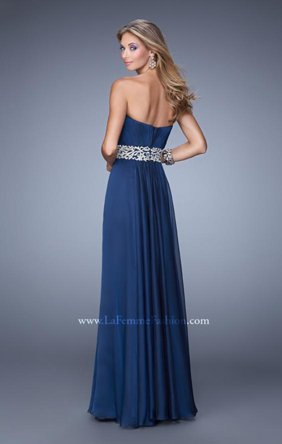 Picture of: Elegant Long Prom Dress with Beaded Embroidery, Style: 21177, Back Picture
