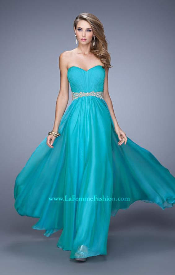 Picture of: Elegant Long Prom Dress with Beaded Embroidery, Style: 21177, Detail Picture 1