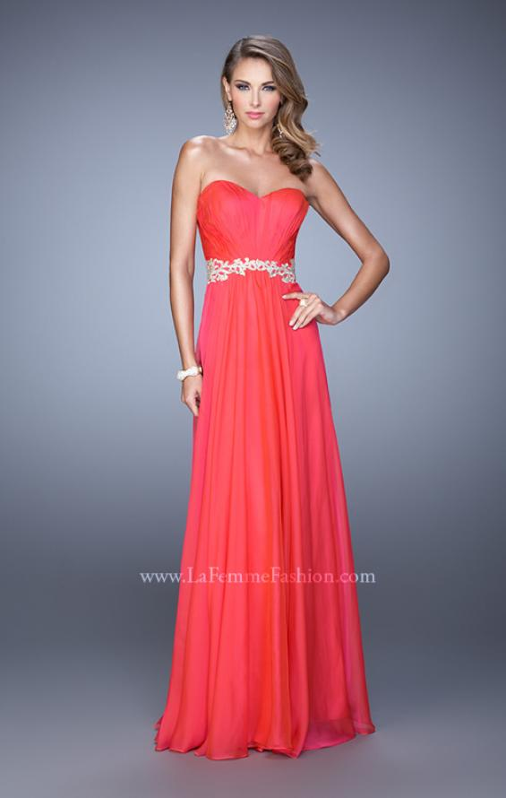 Picture of: Elegant Long Prom Dress with Beaded Embroidery, Style: 21177, Detail Picture 4