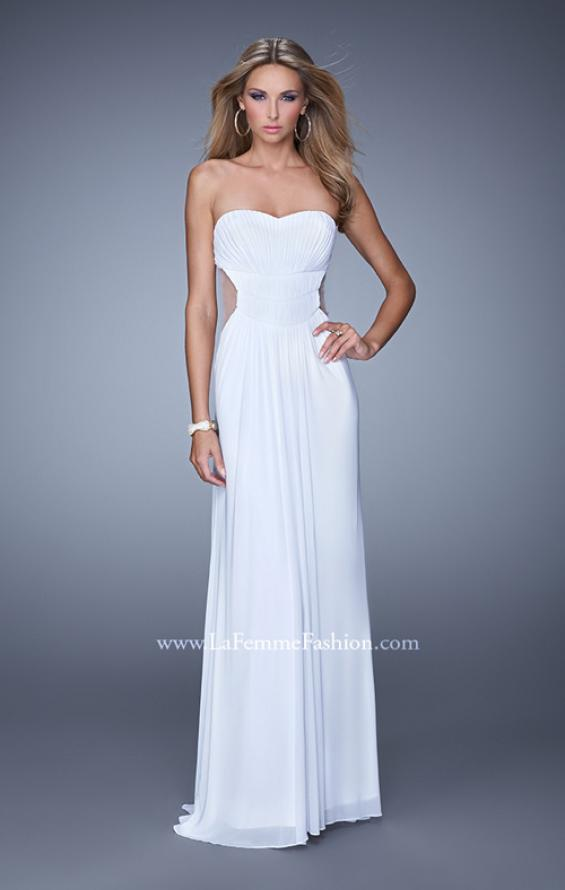 Picture of: Long Net Jersey Prom Dress with Sweetheart Neckline in White, Style: 21184, Main Picture
