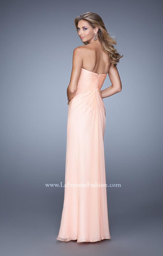 Picture of: Beaded Embroidery Prom Dress with Gathered Bodice, Style: 21214, Back Picture