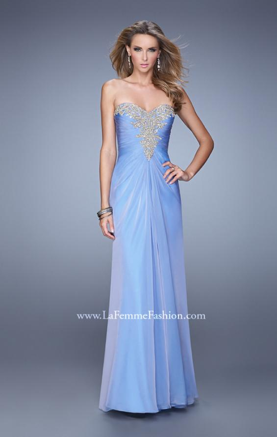 Picture of: Beaded Embroidery Prom Dress with Gathered Bodice, Style: 21214, Detail Picture 2