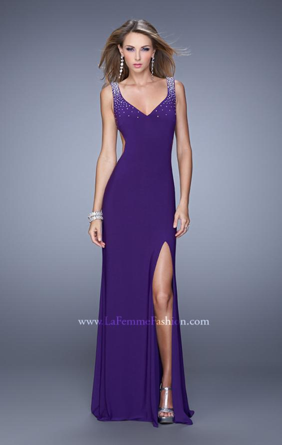 Picture of: Sultry Sleeveless Dress with Stones and Open Back, Style: 21227, Detail Picture 1