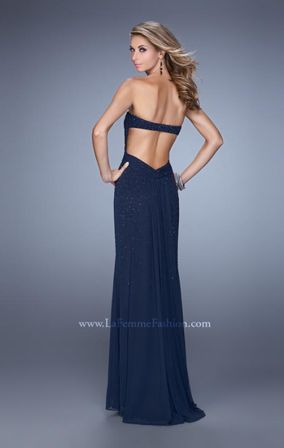 Picture of: Glam Embellished Prom Gown with Open Back, Style: 21235, Main Picture