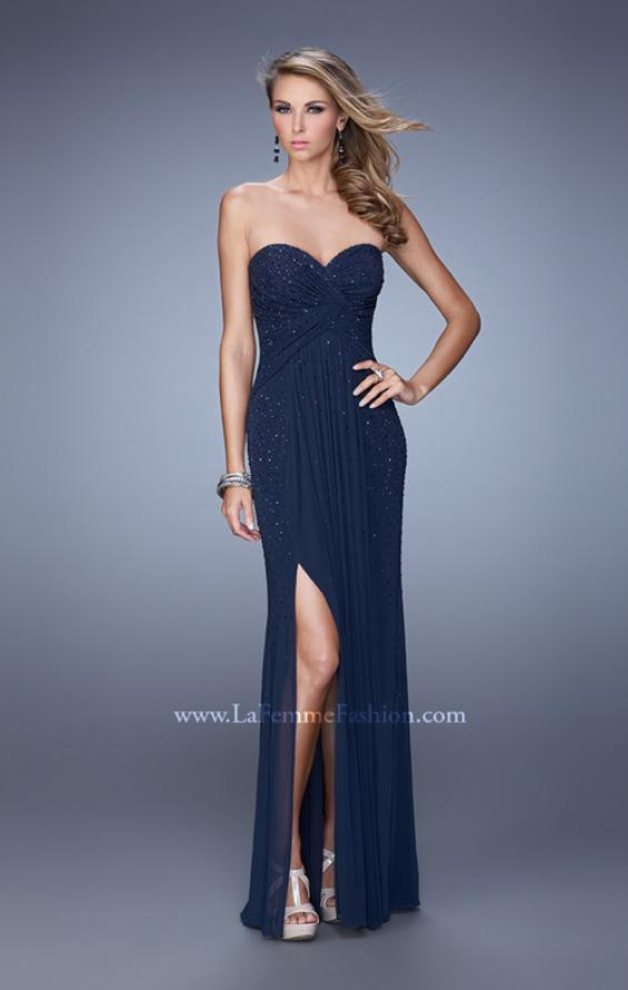 Picture of: Glam Embellished Prom Gown with Open Back, Style: 21235, Back Picture