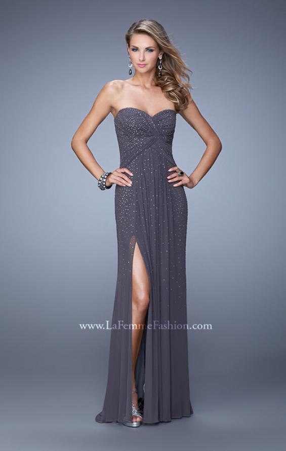 Picture of: Glam Embellished Prom Gown with Open Back, Style: 21235, Detail Picture 3
