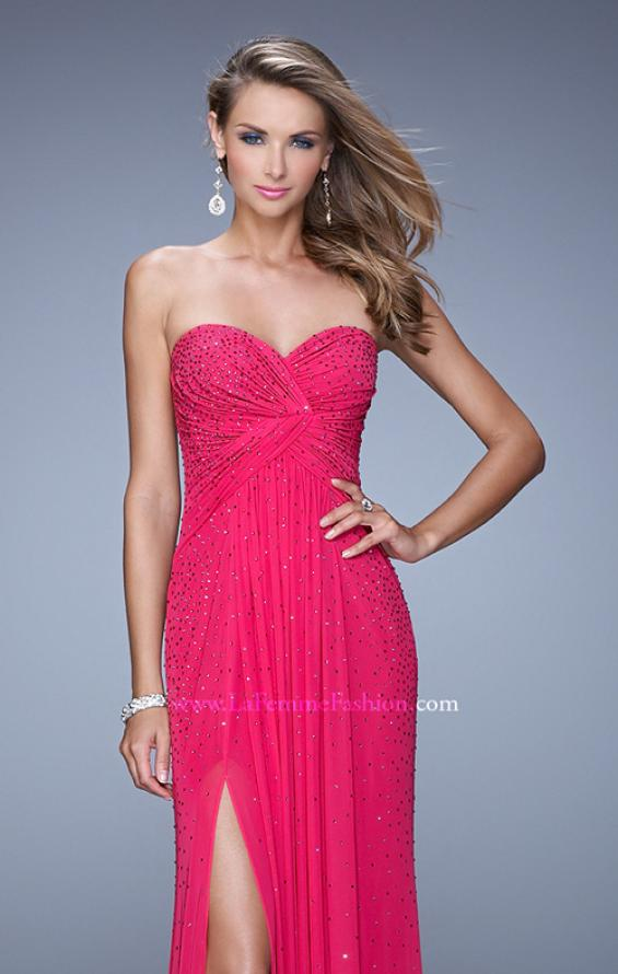 Picture of: Glam Embellished Prom Gown with Open Back, Style: 21235, Detail Picture 5