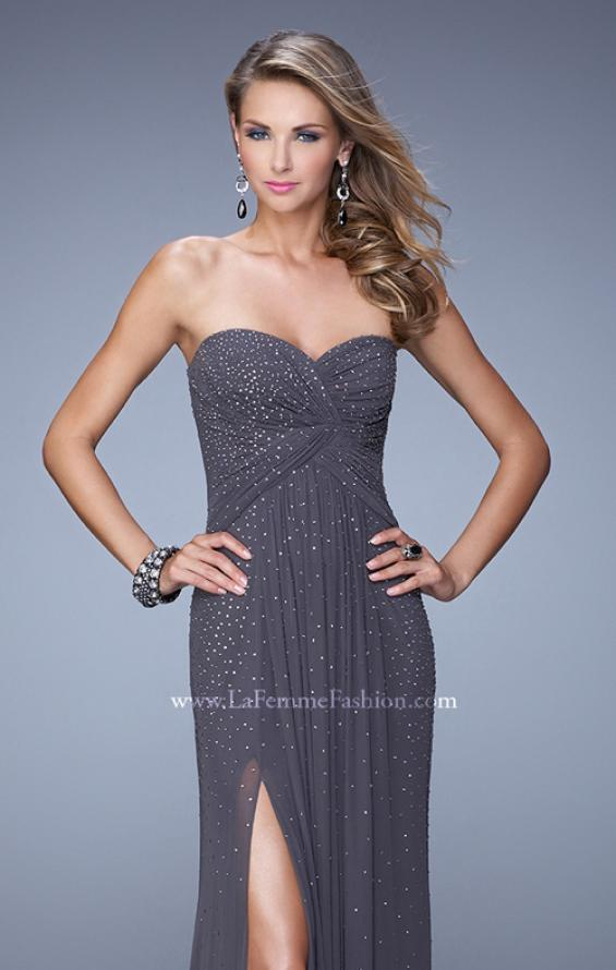 Picture of: Glam Embellished Prom Gown with Open Back, Style: 21235, Detail Picture 6
