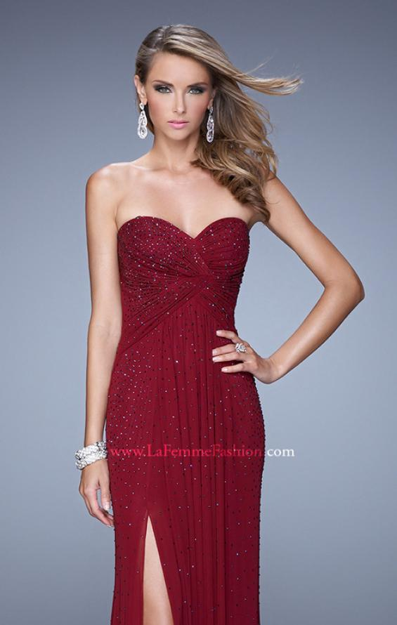 Picture of: Glam Embellished Prom Gown with Open Back, Style: 21235, Detail Picture 7