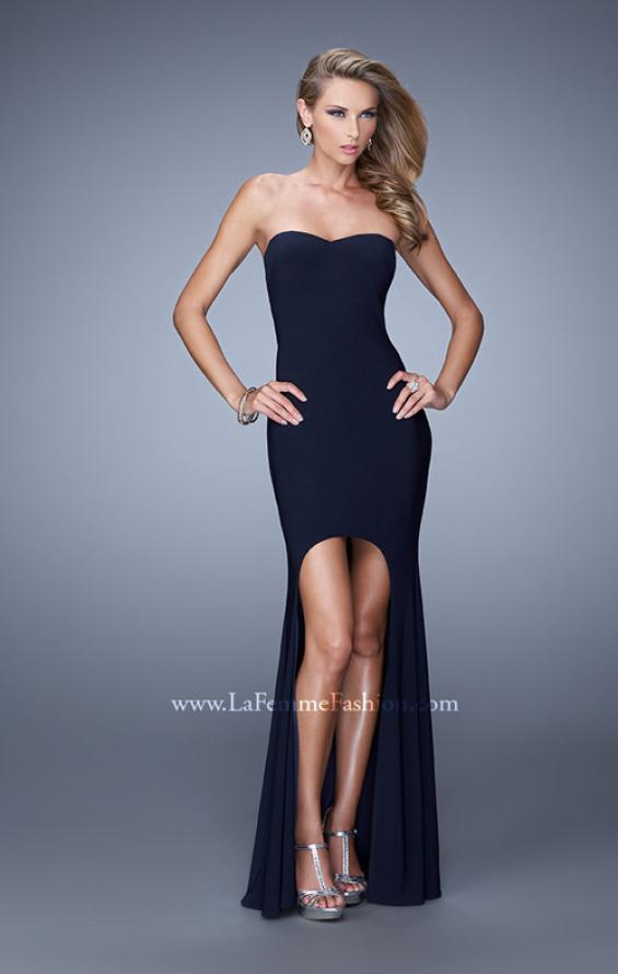 Picture of: High-low Dress with Open Back and Sweetheart Neck, Style: 21251, Main Picture