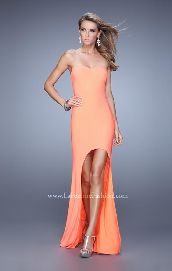 Picture of: High-low Dress with Open Back and Sweetheart Neck, Style: 21251, Detail Picture 1