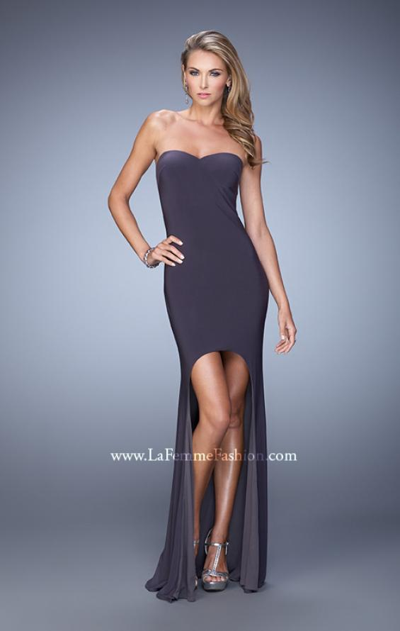 Picture of: High-low Dress with Open Back and Sweetheart Neck, Style: 21251, Detail Picture 3