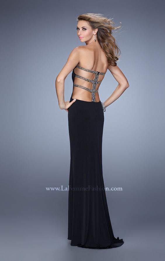 Picture of: Bold Jersey Prom Dress with Sweetheart Neckline in Black, Style: 21265, Main Picture