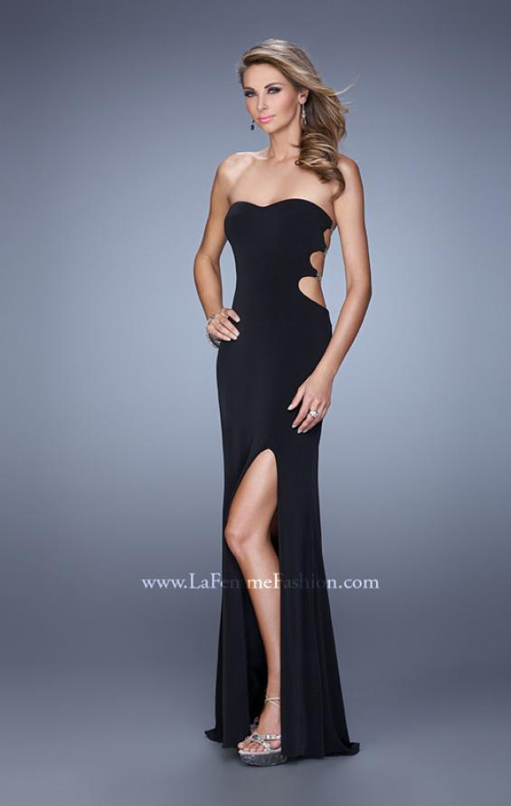 Picture of: Bold Jersey Prom Dress with Sweetheart Neckline in Black, Style: 21265, Back Picture