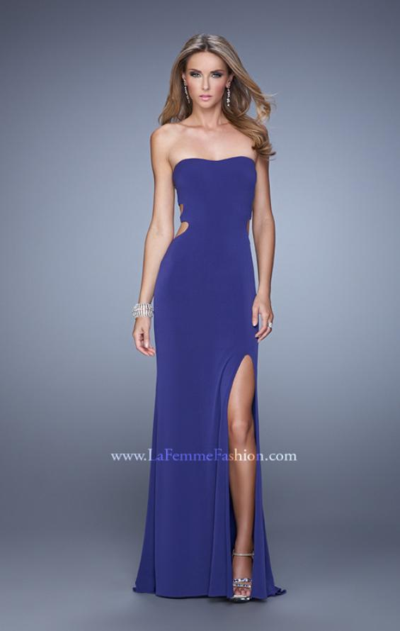 Picture of: Bold Jersey Prom Dress with Sweetheart Neckline in Purple, Style: 21265, Detail Picture 3