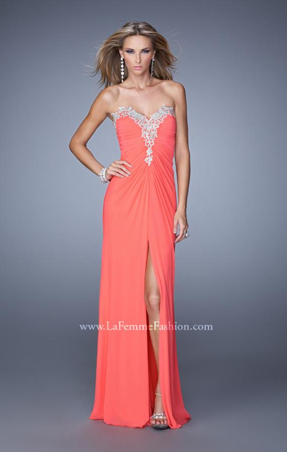 Picture of: Graceful Prom Dress with Ruching and Beaded Embroidery, Style: 21275, Main Picture