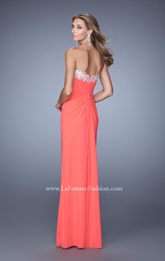 Picture of: Graceful Prom Dress with Ruching and Beaded Embroidery, Style: 21275, Back Picture